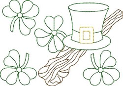 St. Patricks Day Outline embroidery design