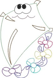 Kite  Outline embroidery design