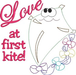 Love At First Kite! embroidery design
