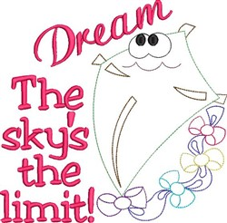 The Skys The Limit! embroidery design