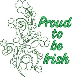 Proud To Be Irish embroidery design