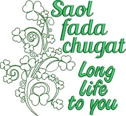 Long Life To You embroidery design