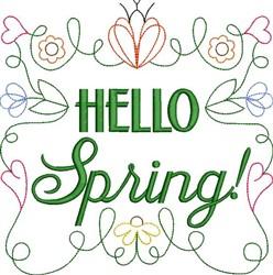 Hello Spring! embroidery design