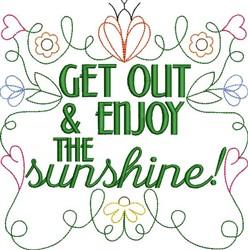 Enjoy The Sunshine embroidery design