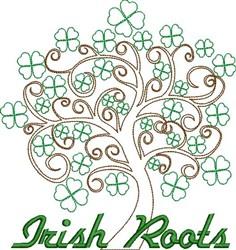 Irish Roots embroidery design
