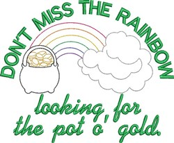 Find A Pot o Gold! embroidery design