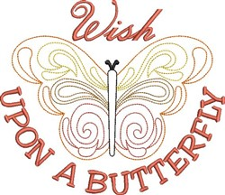 Wish Upon A Butterfly embroidery design