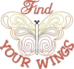 Find Your Wings embroidery design