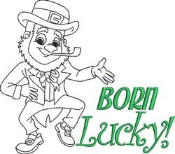 Born Lucky! embroidery design