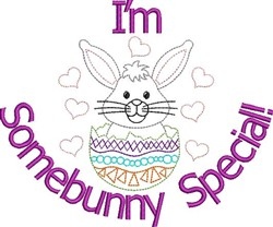 Somebunny Special embroidery design