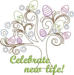 Celebrate Life embroidery design
