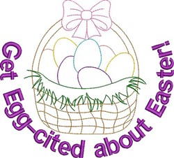 Get Egg-cited embroidery design