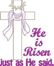 He Is Risen embroidery design