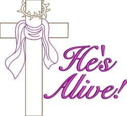 Hes Alive embroidery design