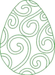 Swirly Egg embroidery design