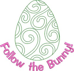 Follow The Bunny embroidery design