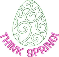 Think Spring embroidery design
