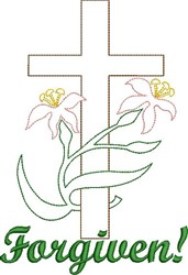 Forgiven Cross embroidery design