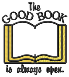 The Good Book embroidery design