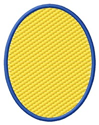 Textured Oval embroidery design