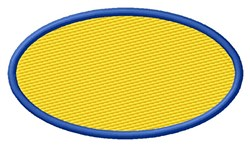 Oval Filled embroidery design