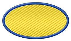 Oval Textured embroidery design