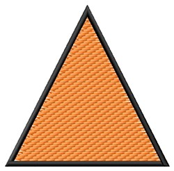 Textured Equilateral Triangle embroidery design