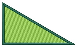 Filled Right Triangle embroidery design