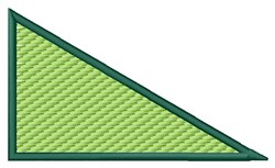 Textured Right Triangle embroidery design