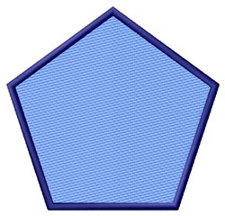 Filled Pentagon embroidery design