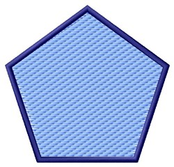 Textured Pentagon embroidery design