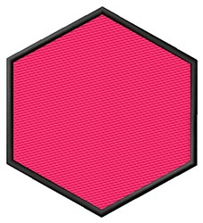 Filled Hexagon embroidery design