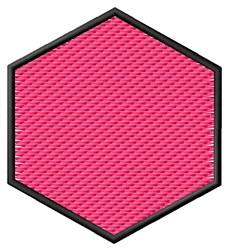 Textured Hexagon embroidery design