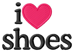 I Love Shoes embroidery design