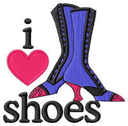 I Love Shoes/Boots embroidery design