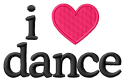 I Love Dance embroidery design