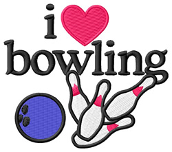 Love Bowling  embroidery design