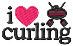 I Love Curling/Logo embroidery design