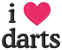 I Love Darts embroidery design
