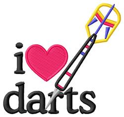 I Love Darts/Dart embroidery design
