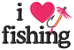 I Love Fishing/Lure embroidery design