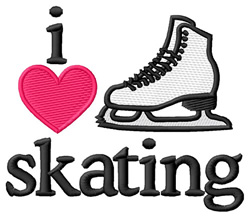 I Love Skating  embroidery design