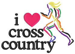I Love Cross Country/Female embroidery design
