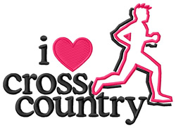 I Love Cross Country/Male embroidery design