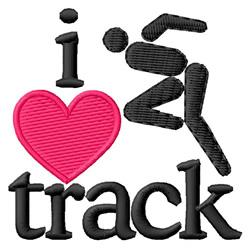 I Love Track/Runner embroidery design
