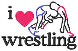 I Love Wrestling/Wrestlers embroidery design