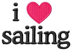 I Love Sailing embroidery design