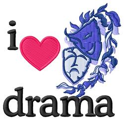 I Love Drama/Masks embroidery design