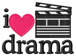 I Love Drama/Clapboard embroidery design