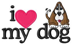 I Love My Dog/Beagle embroidery design